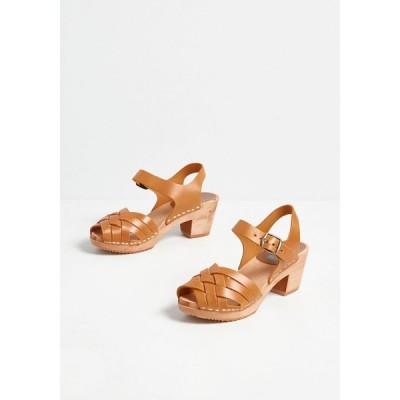 ミア MIA レディース クロッグ シューズ・靴 just how i stroll leather clog tan