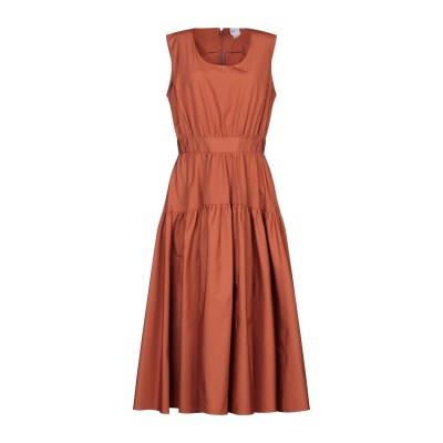 アスペジ ASPESI 7分丈ワンピース・ドレス ブラウン 42 コットン 100% 7分丈ワンピース・ドレス