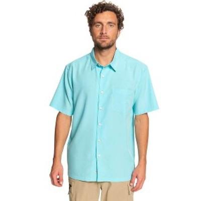 クイックシルバー メンズ シャツ トップス Quiksilver Men's Cane Island Shirt Blue Radiance