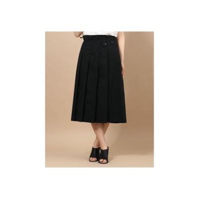 ディノス dinos ベルトデザイン タック使い スカート (ブラック)
