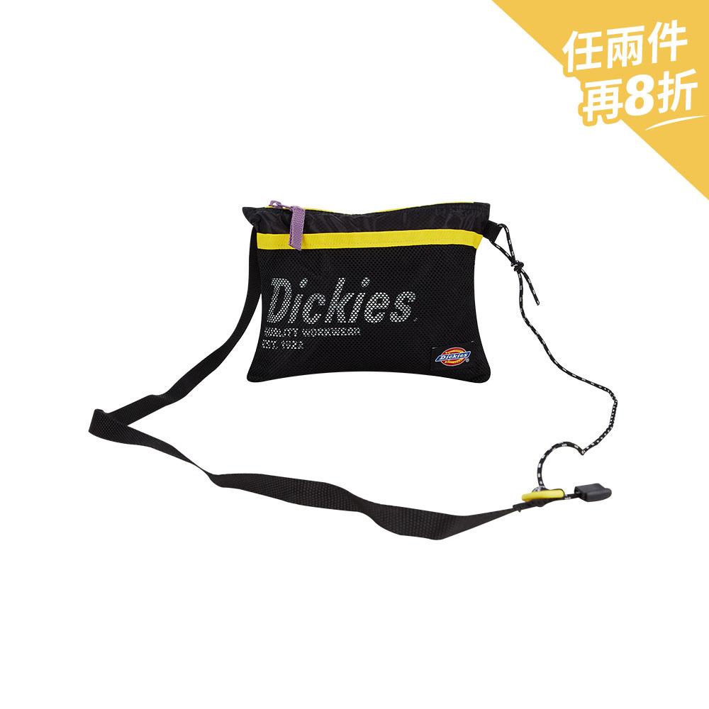 Dickies男女款黑色CORDURA材質Logo字母印花側背包|DK008853BLK