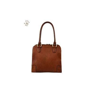 Made In Italy Genuine Vegetable Tanned Leather Shoulder Bag Color Brown Tuscan Leather - Prestige Line 並行輸入品