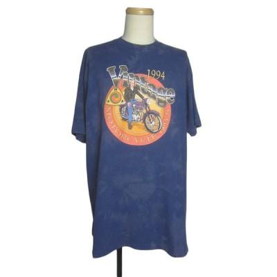 Tシャツ バイクプリントTシャツ MOTORCYCLE DAYS メンズ XLサイズ ティーシャツ ブリーチ加工 古着