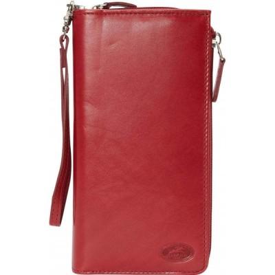 メンシーニレザーグッズ Mancini Leather Goods レディース 財布 Manchester Collection: Ladies RFID Trifold Wallet Red