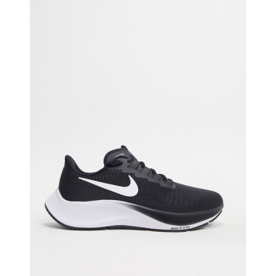 ナイキ メンズ スニーカー シューズ Nike Running Air Zoom Pegasus 37 trainers in black/white Black
