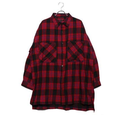 スタイルブロック STYLEBLOCK 先染めチェックビッグシャツ (レッドB)