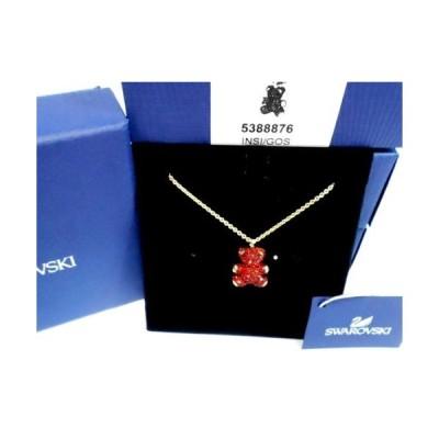 ネックレス スワロフスキー Swarovski Teddy 3D Pendant, Red, Gold plating Crystal Authentic MIB 5388876