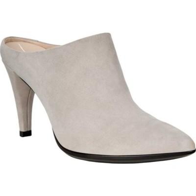 エコー サンダル シューズ レディース Shape 75 Pointy Mule (Women's) Grey Rose Nubuck Leather