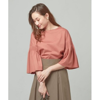 green label relaxing / <closet story> ソデシャーリング カットソー WOMEN トップス > Tシャツ/カットソー