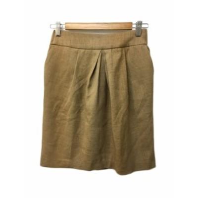 【中古】アーバンリサーチ URBAN RESEARCH スカート 台形 ミニ タック free 茶 ブラウン レディース