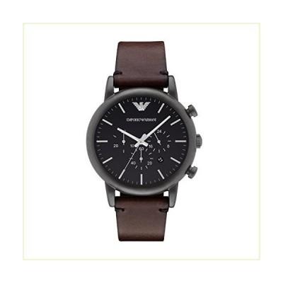Emporio Armani Men's AR1919 Dress Brown Leather Watch「並行輸入品」