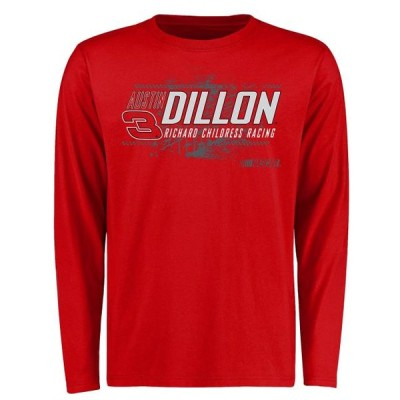 ユニセックス スポーツリーグ モータースポーツ Austin Dillon Burn Rubber Logo Long Sleeve T-Shirt - Red