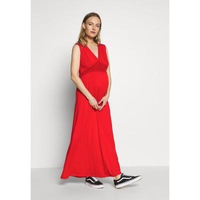 ラブ トゥー ウェイト ワンピース レディース トップス NURSING CROCHET - Maxi dress - red