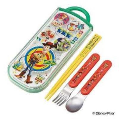 トリオセット スライド式 フォーク スプーン 箸 キャラクター 子供 トイストーリー4
