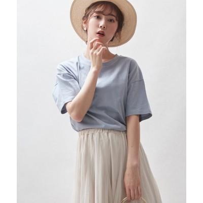(Rejoule/リジュール)【2021新作商品 】ラウンドヘムサイドスリットTシャツ/レディース ブルー