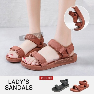 サンダル レディース 夏 スポーツサンダル 履きやすい 夏サンダル サンダル 歩きやすい 美脚 10代 20代 軽い サンダル 夏 軽量 シューズ