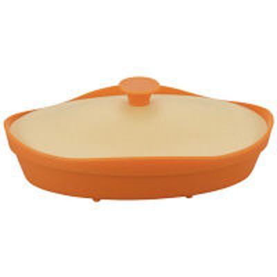 シービージャパンシリコンスチーマー オレンジ オーバル型 電子レンジ調理 fleur フルール 1個 シービージャパン