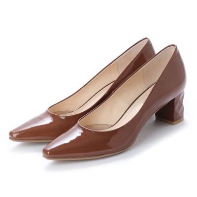 アンタイトル シューズ UNTITLED shoes パンプス (ブラウンエナメル)