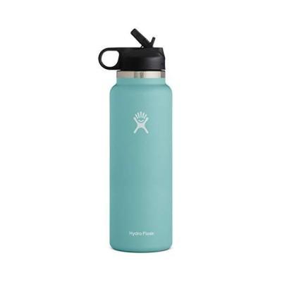 送料無料 Hydro Flask Water Bottle - Wide Mouth Straw Lid 2.0-32 oz, Alpine