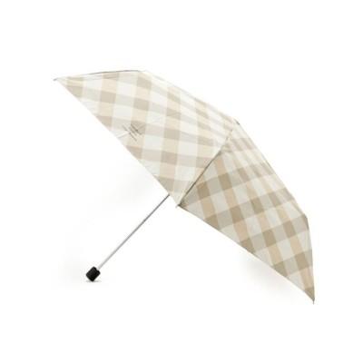 【グローブ】 Wpc.バイアスチェックスリム折り畳み傘 レディース ライト ベージュ 00 grove