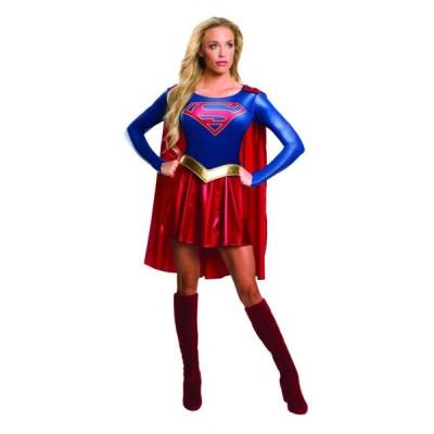 スーパーガール 衣装、コスチューム 大人女性用 スーパーマン コスプレ 仮装