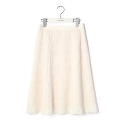 LAISSE PASSEベロア刺繍フレアースカート【お取り寄せ商品】