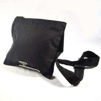 PRADA / プラダ ■ショルダーバッグ ナイロンレザー ブラック ブランド【バッグ/バック/BAG/鞄/カバン】 【中古】