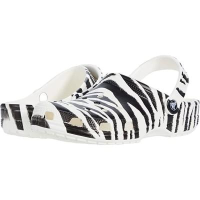 クロックス Classic Animal Print Clog メンズ クロッグ ミュール White/Zebra Print