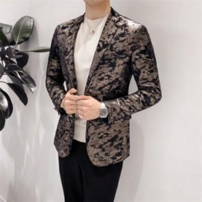 メンズスーツ 大きいサイズ 事務服 プリンスジャケット 通勤 シルエット ビジネススーツ カジュアル 新作