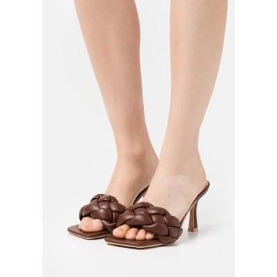 レイド ヒール レディース シューズ SANDRA - Heeled mules - brown