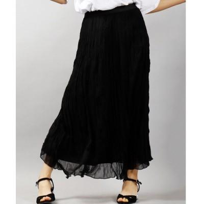 スカート 【Switch】ワッシャーカコウシフォンロングスカート シアースカート womens
