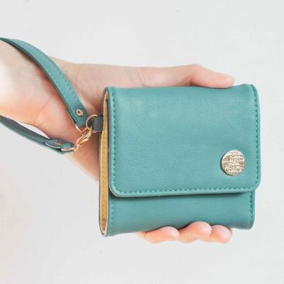 クラソ Kraso 幸運を呼ぶミントグリーン 大人かわいい手のり財布 (グリーン)
