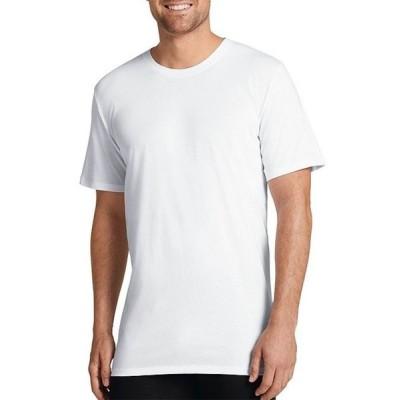 ジョッキー メンズ Tシャツ トップス Signature Pima Cotton Crewneck T-Shirts 3-Pack