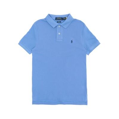 ラルフローレン RALPH LAUREN ポロシャツ パステルブルー 18 コットン 100% ポロシャツ