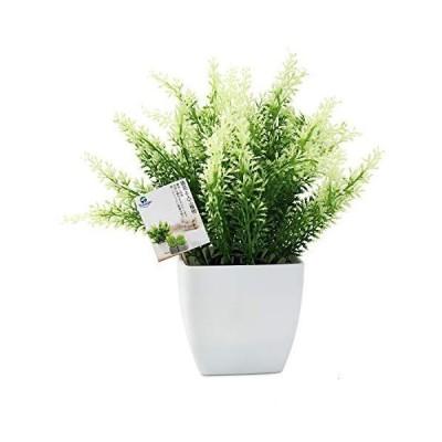 TOSSOW 人工観葉植物 造花 フェイクグリーン フェイク観葉植物 四方鉢 インテリア プレゼント 浅緑葉