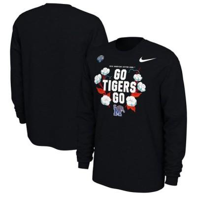 ユニセックス スポーツリーグ アメリカ大学スポーツ Memphis Tigers Nike 2019 Cotton Bowl Bound Verbiage Long Sleeve T-Shirt - Bla