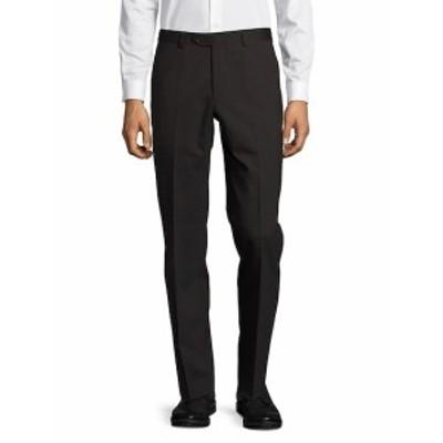 サントレリ メンズ パンツ Brushed Straight-Leg Dress Pants