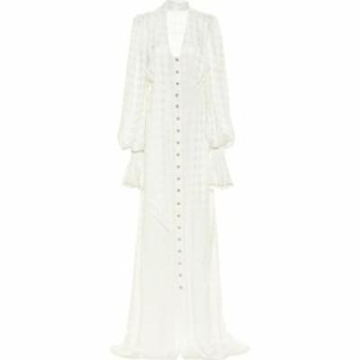 バルマン Balmain レディース パーティードレス マキシ丈 ワンピース・ドレス Houndstooth Maxi Dress Blanc