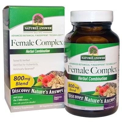 フィーメルコンプレックス、 ハーブコンビネーション、 800 mg、 90ベジキャップ