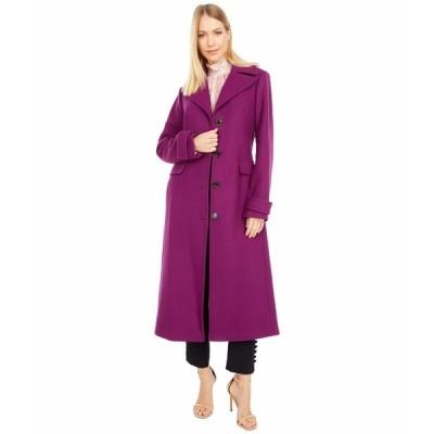ケイト スペード コート アウター レディース Belted Wool Maxi Coat Bright Plum