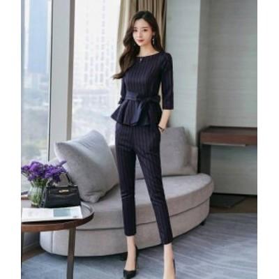 韓国 ファッション レディース セットアップ パンツドレス パンツスーツ 大きいサイズ 結婚式 パーティー フォーマル 二次会 通勤