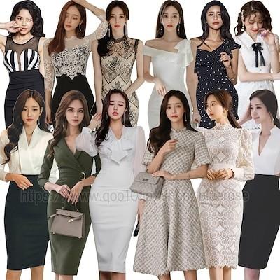 秋服 高品質ワンピースドレス 夏 韓国ファッションOL正式な場合 パーティードレスセクシーなワンピース一字肩 二点セット OL レース 深いVネック ミニ丈ひざ丈 ワンピ