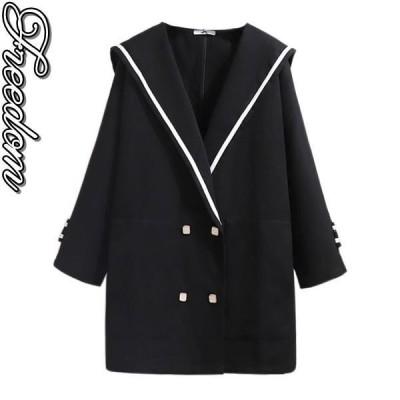 大きいサイズ ラシャコート コート セーラーコート 大きいサイズのセーラー襟デザインラシャコート 3L 4L 5L 6L 7L サイズ セール