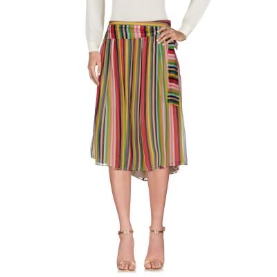 ヌメロ ヴェントゥーノ N°21 7分丈スカート キャメル 40 100% シルク 7分丈スカート
