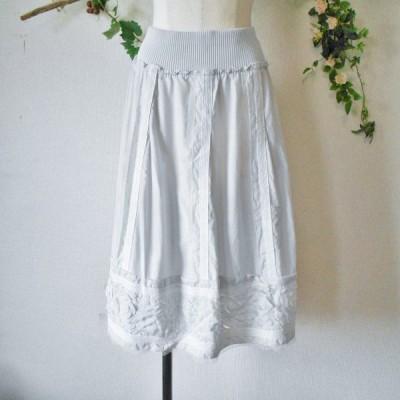 リコ ヒロコビス / +RICO HIROKO BIS 絹 シルク 混 お花 の 素敵 な 春夏 向き スカート 9