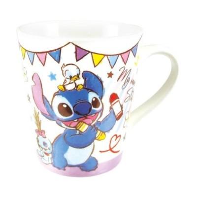 スティッチ 陶器製 マグカップ ハピネスタイム スリム マグ ディズニー ティーズファクトリー ギフトマグ