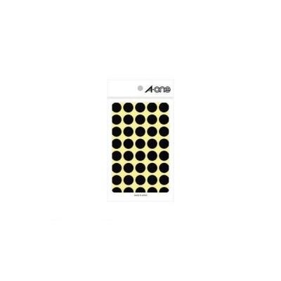 A-one(エーワン) [07029] カラーラベル 丸型 15mmφ 黒【1P14シート(560片)】 4906186070294 ポイント5倍