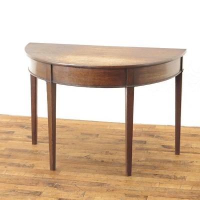 コンソール 半円形 ハーフムーン すっきり サイドテーブル 1930年頃 イギリス 業販卸価格アンティークフレックス 54497