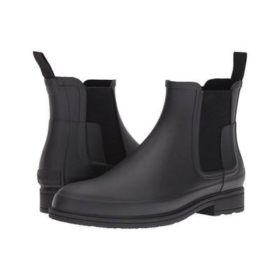 ハンター Original Refined Dark Sole Chelsea Boots メンズ ブーツ Black