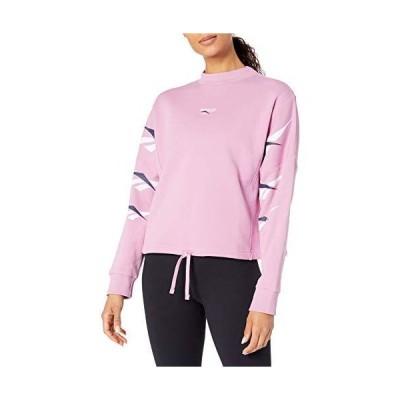 Reebok クラシック ベクター リピート クルーネック スウェットシャツ 2X18W ピンク 並行輸入品